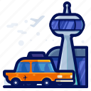 car, taxi, transportation, travel, vehicle icon
