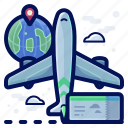 aeroplane, airplane, holiday, ticket, travel, vacation icon