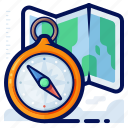 compass, holiday, location, navigation, pointer, travel, vacation icon