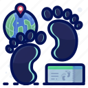 footprint, holiday, travel, vacation, walk icon
