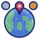 global, holiday, international, location, travel, vacation icon
