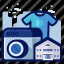 facilities, holiday, hotel, laundry, service, travel, vacation icon