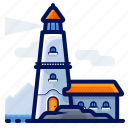 destination, holiday, lighthouse, location, travel, vacation icon