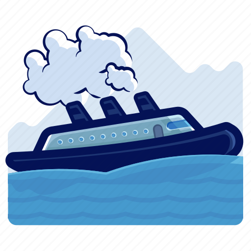 cruise, holiday, ship, travel, vacation icon