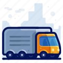 holiday, transport, travel, truck, vacation icon