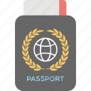 boarding pass, international passport, passport, travel, visa icon