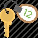 hotel key, hotel room, hotel room key, key, room key icon