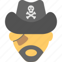 ocean raider, pirate, robber, sea people, thief icon