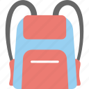 backsack, baggage, packsack, rucksack, travel camo icon
