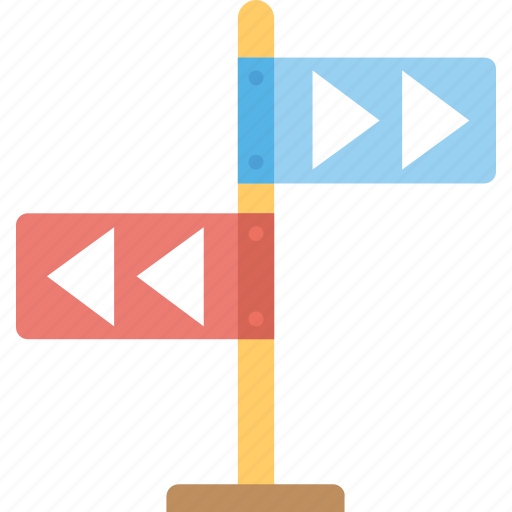 Direction arrows, finger post, guidepost, roadside sign, signpost icon - Download on Iconfinder