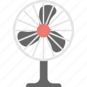 charging fan, cooling fan, electric fan, fan, pedestal fan icon