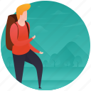 boy on picnic, male tourist, picnic, travel gadgets, traveller, visitor icon