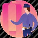 authority, constable, detective, officer, patrolman, policeman icon