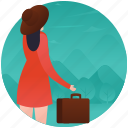 beach picnic, holiday, luggage, picnic, tourist, traveller icon