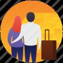 couple, date, honeymoon, picnic couple, romantic couple icon