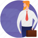 business tour, business travel, businessman, entrepreneur, tourist icon