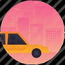 automobile, cab, car, taxi, vehicle icon