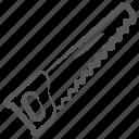 carpenter tool, handsaw, saw, saw tool, wood saw icon