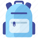 backpack, bag, luggage, tourist bag, travel bag icon