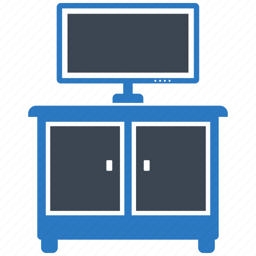 cupboard, furniture, living room, tv icon