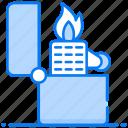 cigarette burning, creating flame, fire starter, ignite flame, lighter