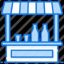 drink cart, drink stall, drinks kiosk, drinks shop, soda kiosk