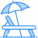 beach bed, beach chair, deck chair, outdoor furniture, sunbed