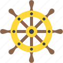 boat wheel, captain rudder, helm, ship steering, ship wheel icon