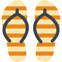 beach sandals, flat sandals, flip flops, footwear, home slippers icon