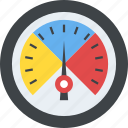gauge, odometer, rating meter, speedometer, velocimeter icon