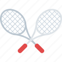 badminton sign, racket, racquet cross, sports accessory, tennis racket icon