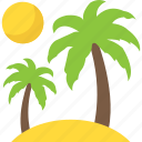 island, palm tree, sand tree, travelling, tropical tree icon