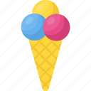 dessert, frozen food, ice cream, sundae, waffle cone icon