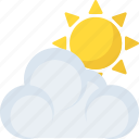 atmosphere, climate, partly cloudy, pleasant weather, sunny cloudy icon