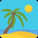 island, travelling, summer season, tropical trees, natural view