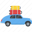 loaded cab, taxi, transport, transportation, travelling icon