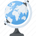 cartography, earth, education globe, geography, terrestrial globe icon