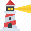 lighthouse, marine lighthouse, sea tower, searchlight tower, tower house icon