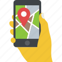 address tracker, cartography, gps, mobile navigation, online map icon