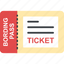 boarding card, boarding pass, ticket, transportation concept, traveling ticket icon