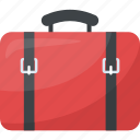 luggage, suitcase, tourist bag, traveling bag, trolley bag icon
