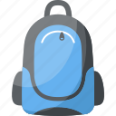 backpack, backsack, school bag, tourist bag, travelling bag icon
