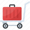 carriage, hand trolley, hand truck, luggage cart, push cart icon