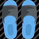 flat sandals, footwear, home slipper, hotel slipper, thongs icon