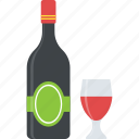 champagne, dinner drinks, party alcohol, summer beverage, wine bucket icon