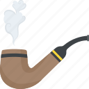 addiction, luxury lifestyle, smoking pipe, tobacco, tobacco pipe icon