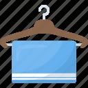 bath towel, body hygiene, cleaning towel, dry equipment, hanged towel, toiletries icon