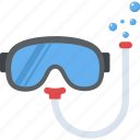 diving goggles, scuba, swim mask, snorkeling, scuba diving snorkel icon