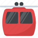 cable car, cable lift, cableway, chairlift, hilly transportation icon