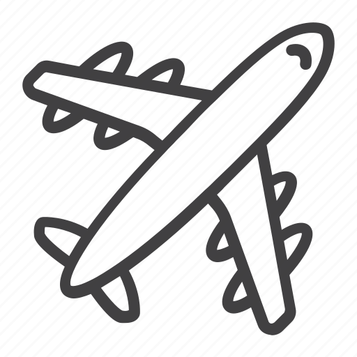 aircraft, airplane, airport, fly, plane, tourism, travel icon